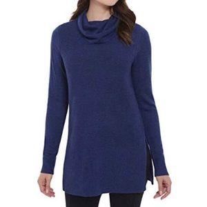 Adrienne Vittadini | Navy Cowl Tunic Sweater
